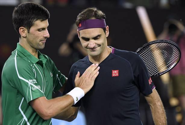 Gratulationen von Federer für den starken Rivalen.