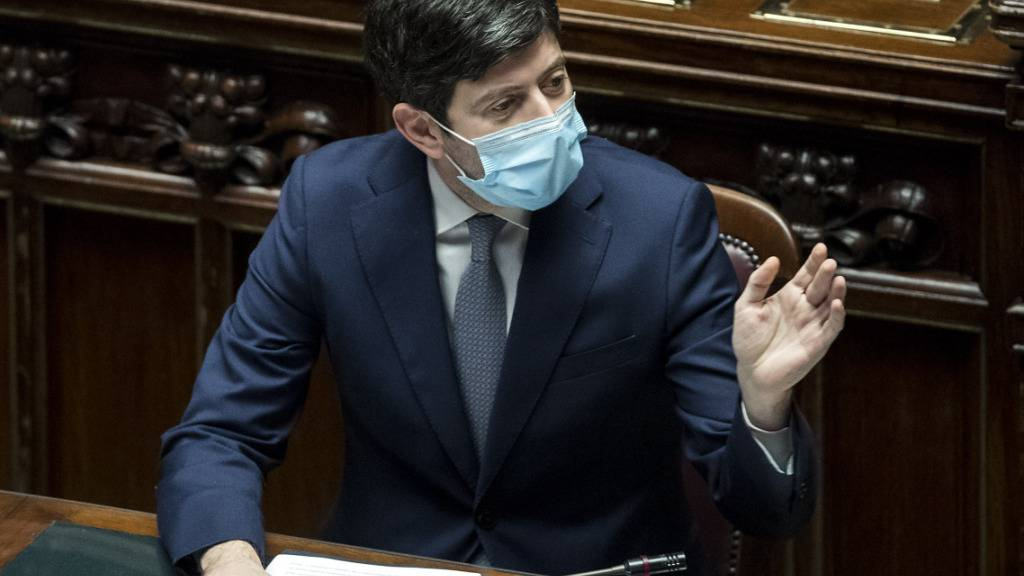 Roberto Speranza, Gesundheitsminister von Italien, spricht bei einer Sitzung der Abgeordnetenkammer über Maßnahmen während der Corona-Pandemie. Foto: Lapresse / Roberto Monaldo/LaPresse via ZUMA Press/dpa