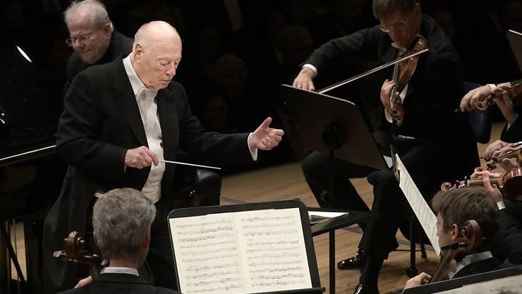 Zum Abschiedskonzert von Dirigent Bernard Haitink spielten die Wiener Philharmoniker am Lucerne Festival.