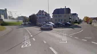 Hier an dieser Kreuzung in Aarburg ist es zum Unfall gekommen.
