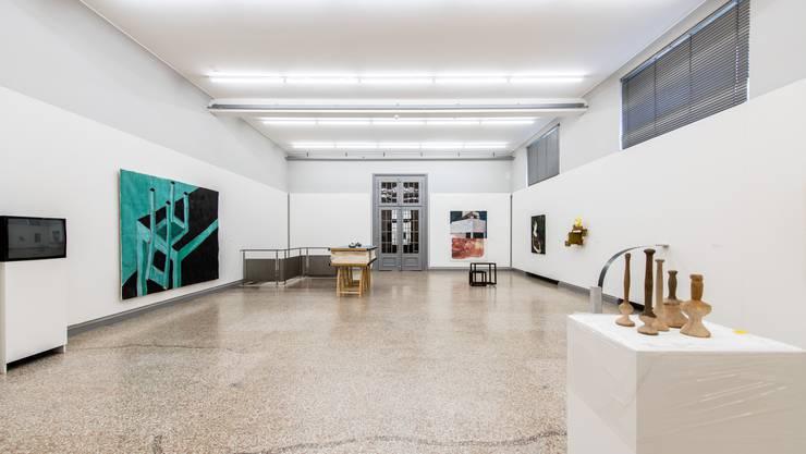 Kunstmuseum Solothurn: Blick in den Saal mit der zeitgenössischen Kunst zur Ausstellung Genius Loci Salodorensis.
