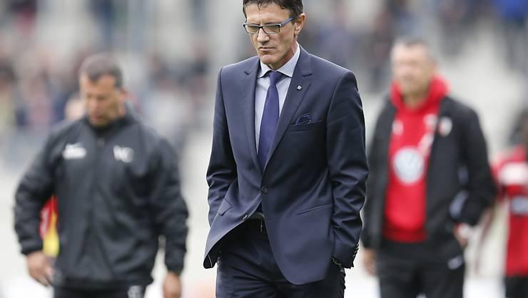Die Tage von Trainer Zlatko Petricevic beim FC Biel dürften gezählt sein