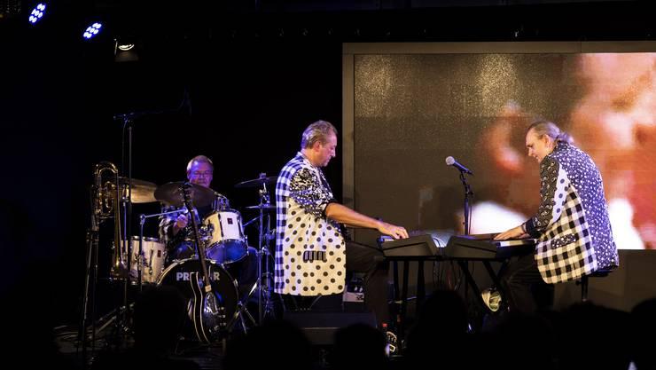 """Die """"Piano Connection"""": Beat Theiler (Drums), Thomas Pfann (Gitarre) und Jürg Bärtschi (Klavier)"""