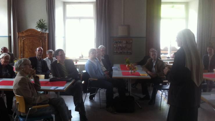 Die Clara-Schwestern heissen die CVP Aarau willkommen