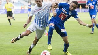Der FC Zürich mit Adrian Winter und der FC Luzern mit Ruben Vargas lieferten sich einen Abnützungskampf