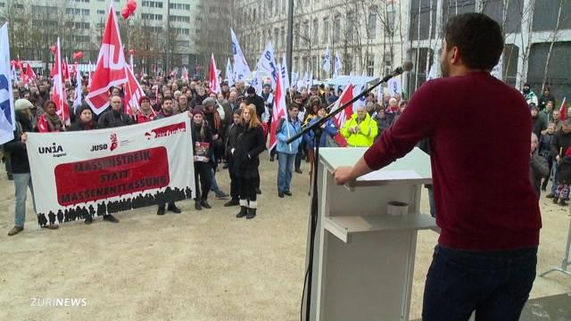 500 demonstrieren gegen Alstom-Stellenabbau
