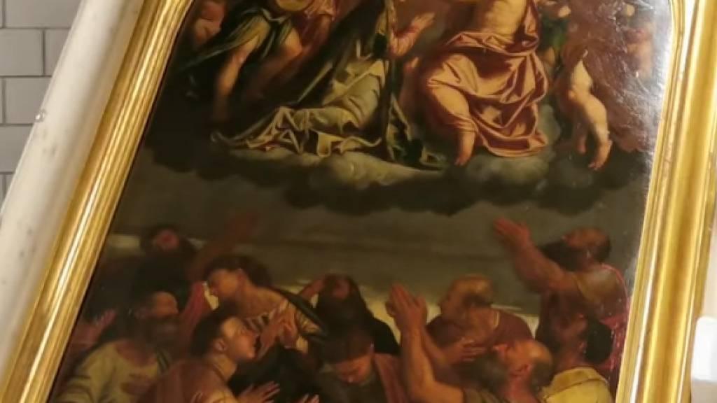 Altarbild von Callisto Piazza da Lodi zurück in Lugano