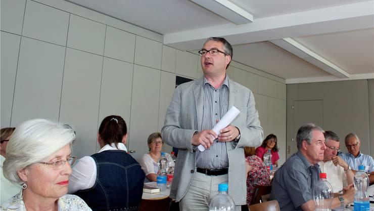 Regierungsrat Remo Ankli ruft die Kirchen auf, sich für die Werte in der Gesellschaft einzusetzen.