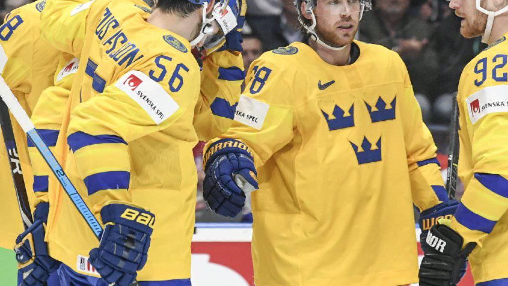 Schweden, am Samstag nächster Gegner der Schweiz, schoss sich gegen Österreich ein