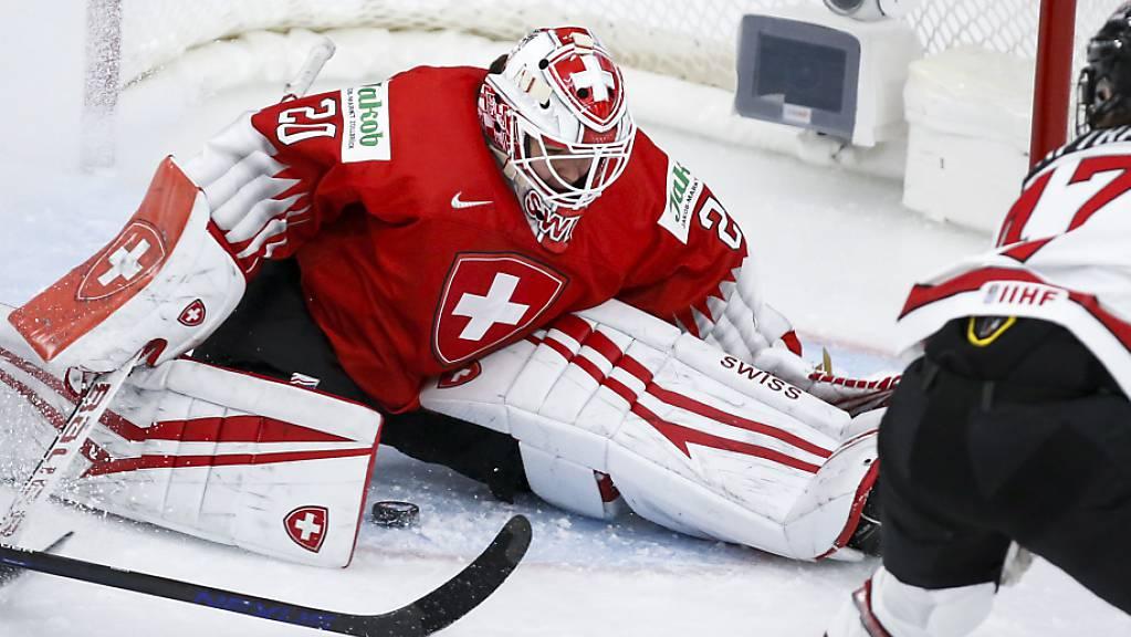 Akrobatisch zur Parade: Dank Andrea Brändli darf die Schweiz gegen Topfavorit Kanada ein Drittel lang auf einen Coup hoffen.