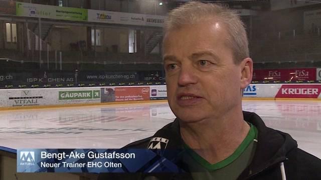 Trainer Bengt-Ake Gustafsson soll es beim EHC Olten richten