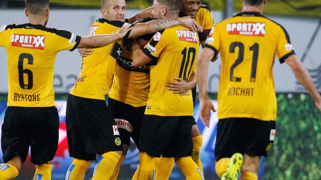Im letzten Heimspiel gegen Lugano konnte YB über sieben Tore jubeln