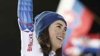 Die Slowakin Petra Vlhova jubelt in Zagreb über ihren 11. Weltcupsieg – 6 davon feierte sie in ihrer Paradedisziplin Slalom.