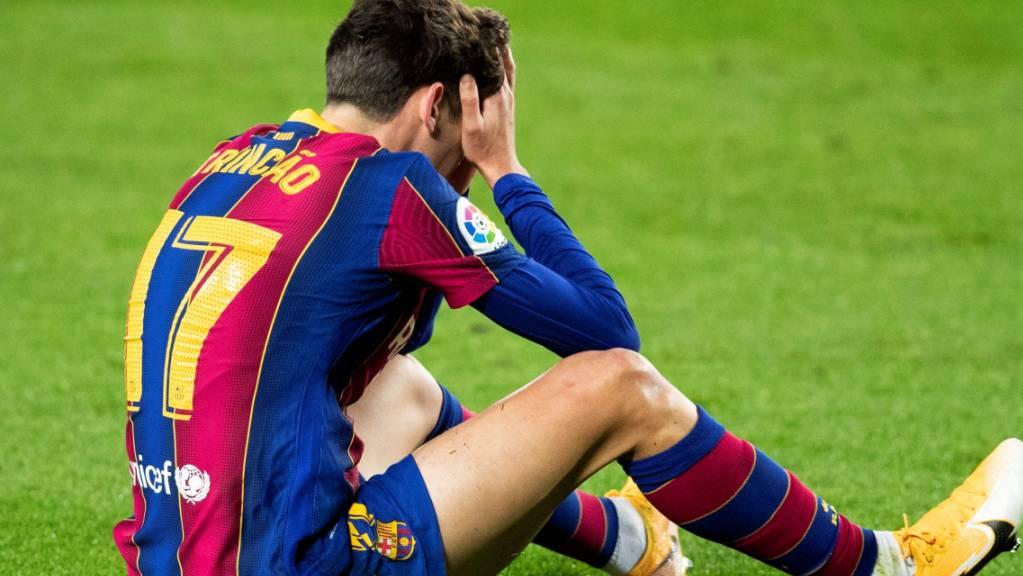 Trincao kam mit Barcelona zum Jahresende nur zu einem Remis.