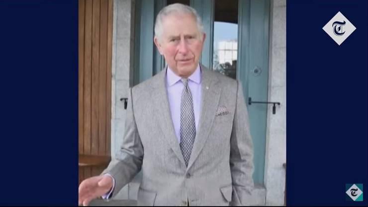 Sendet Worte der Ermutigung nach Australien: Thronfolger Prinz Charles. (Screenshot You Tube)