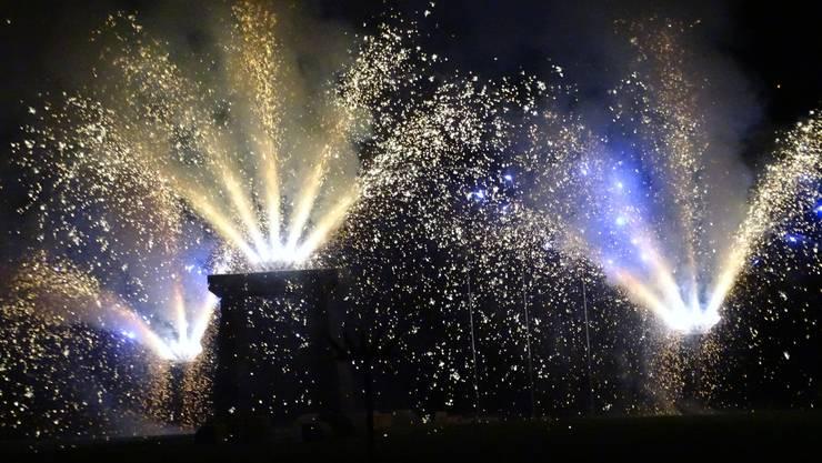 Einige Eindrücke vom Feuerwerk im Stadtpark