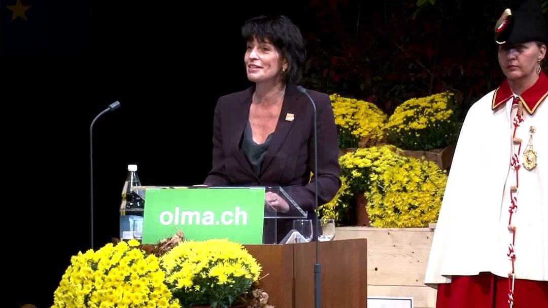 Zwischen Bratwurst und Mozarella: Doris Leuthard erkundet die Olma