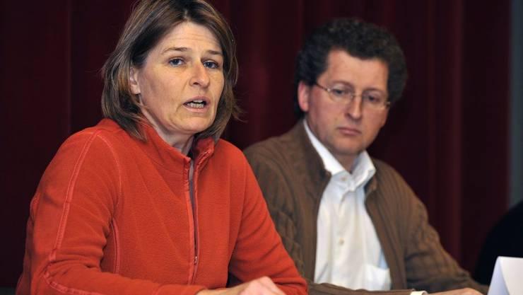 Nicole und Roland Trezzini, die Eltern von Lucie.