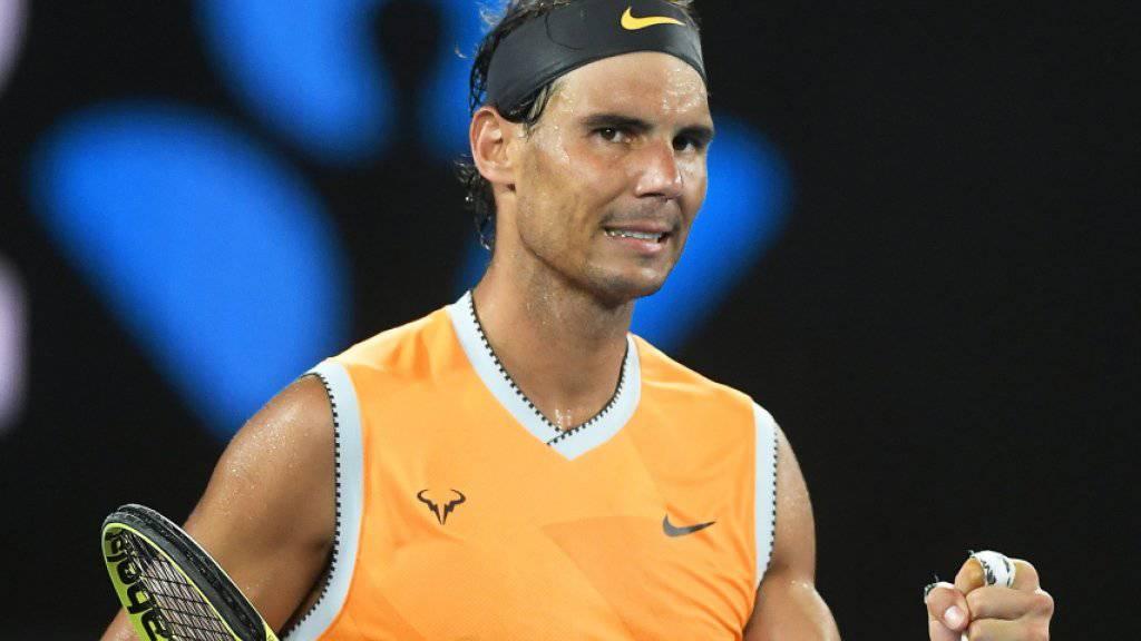 Bisher völlig ungefährdet: Rafael Nadal steht ohne Satzverlust in der 3. Runde des Australian Open