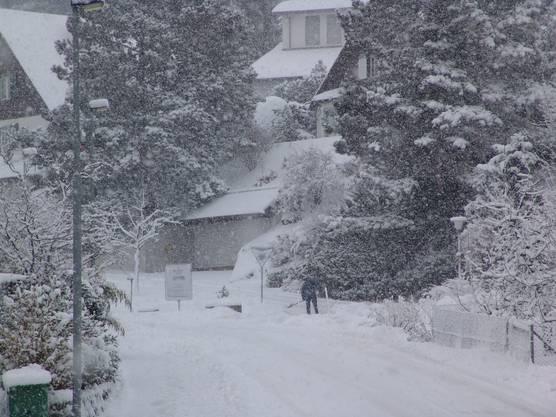 Schneegestöber in Aesch