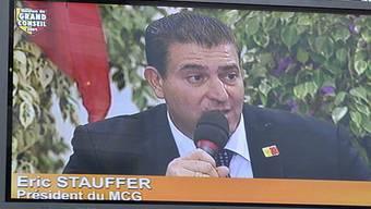 Eric Stauffer nach dem Wahlerfolg in Genf (Archiv)