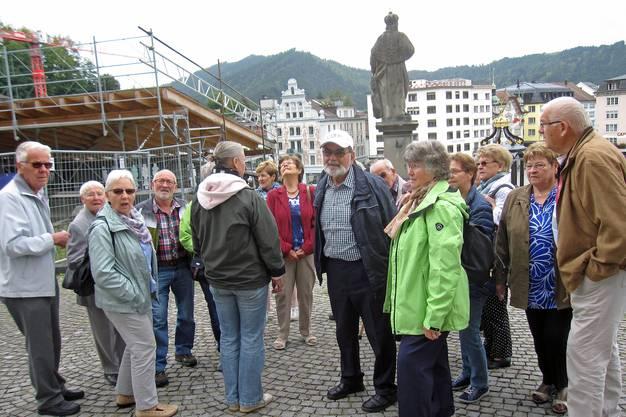Vor dem Kloster Einsiedeln