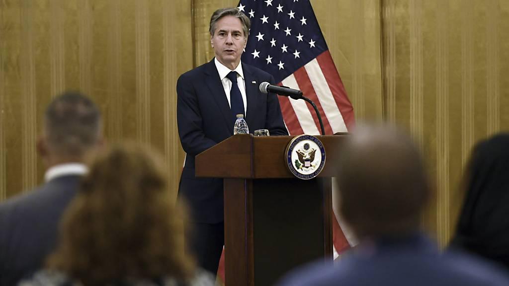Die USA verfolgen mit Argwohn die Ernennung von Taliban in der afghanischen Regierung. Im Bild US-Aussenminister Antony Blinken.