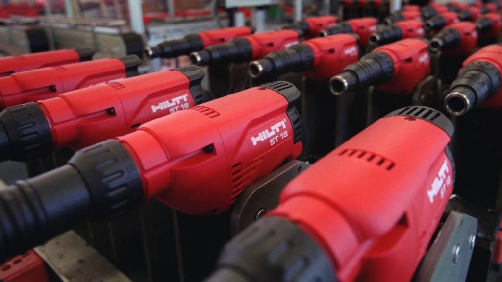 Baugerätehersteller Hilti wächst wieder