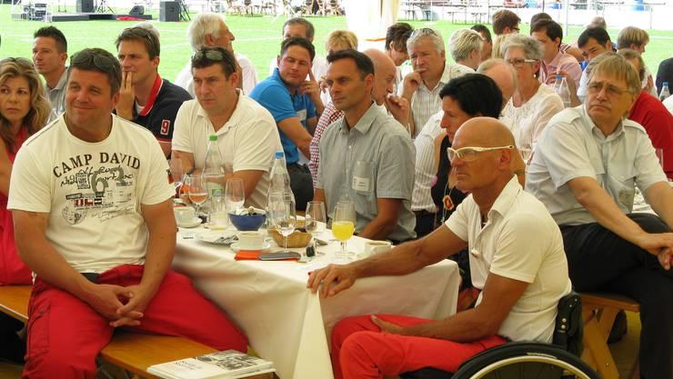 Viele Elitesportler, wie Rollstuhl-Weltklasse-Athlet Heinz Frei, folgten der Einladung zu 75 Jahre Sport Toto Gesellschaft