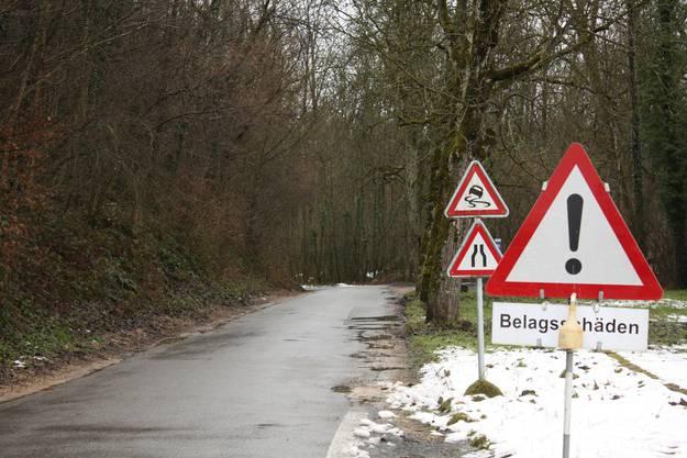 Der Streckenabschnitt der Wilerstrasse im Wald soll gesperrt werden.