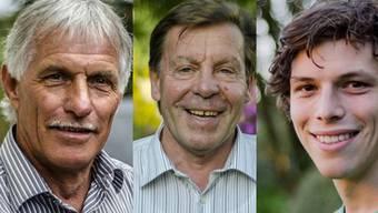 Die Finalisten des NAB-Awards stehen fest (v.l.): Christian Hohl, Hans-Peter Lang und Valentin Bühlmann