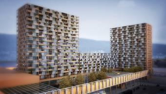 Die Migros plant in unmittelbarer Nähe zum Shoppi Tivoli einen Obi Baumarkt und 420 Wohnungen.