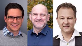 Von links:  Reto Caprez, Bernhard Meier und Marcel Signer