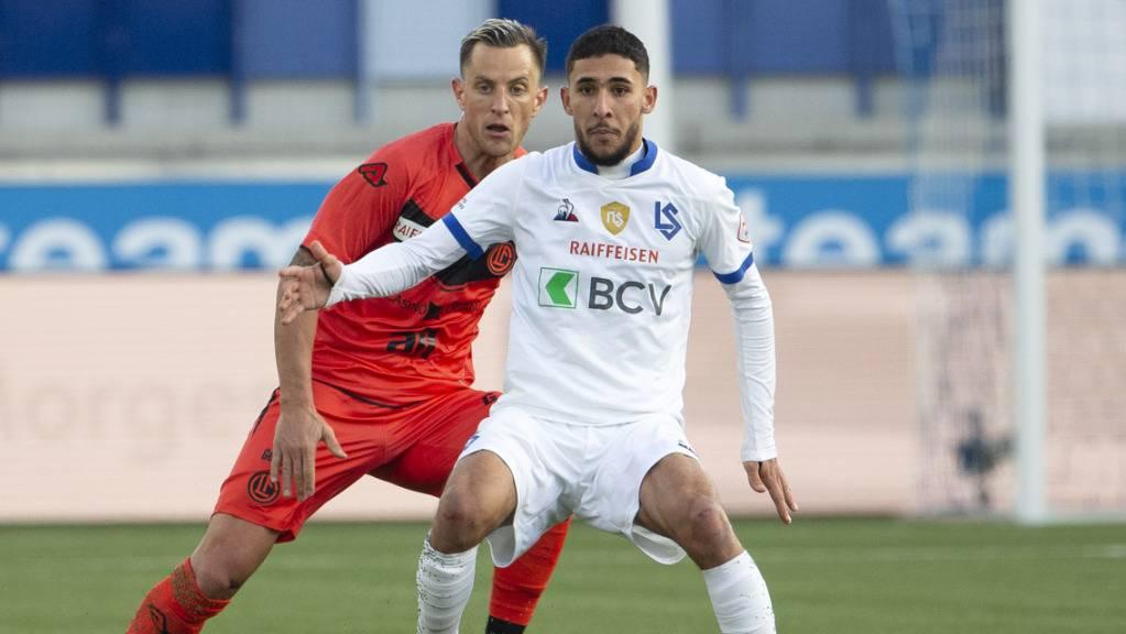 Hicham Mahou erzielte seinen ersten Treffer für Lausanne-Sport in der Super League.