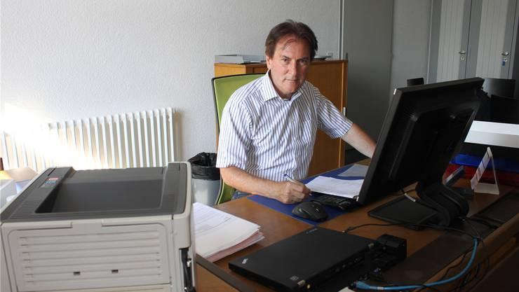 Gesamtschulleiter Hubert Bläsi hat sein Büro im Schulhaus IV bezogen.