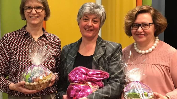 Wiedergewählten Vorstandsmitglieder v.l.n.r.: Esther Meier, Susanne Heuberger, Brigitte Federspiel