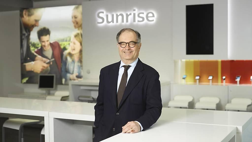 «Diese Transaktion ist für uns phantastisch»: Sunrise-Präsident Peter Kurer verteidigt den geplanten, umstrittenen Kauf des Kabelnetzbetreibers UPC. (Archivbild)