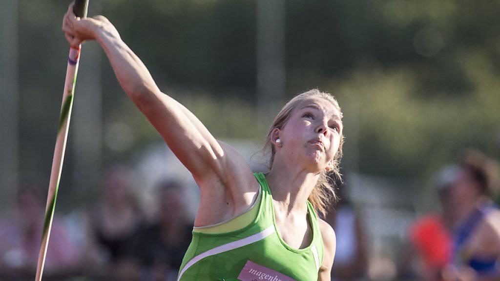Geraldine Ruckstuhl erzielte in Götzis einen Schweizer Rekord im Speerwerfen