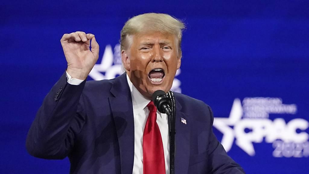 Donald Trump, ehemaliger Präsident der USA, spricht auf der Konferenz CPAC, einer Veranstaltung konservativer Aktivisten. (Archiv)