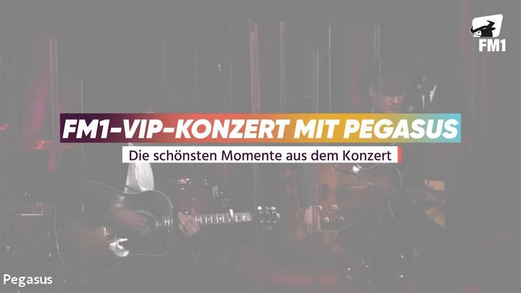 Pegasus ganz privat beim FM1-VIP-Konzert online