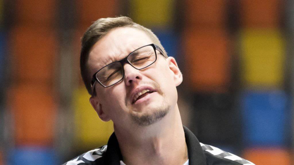 Kadetten-Coach Peter Kukucka leidet im Cup-Halbfinal gegen Bern Muri.