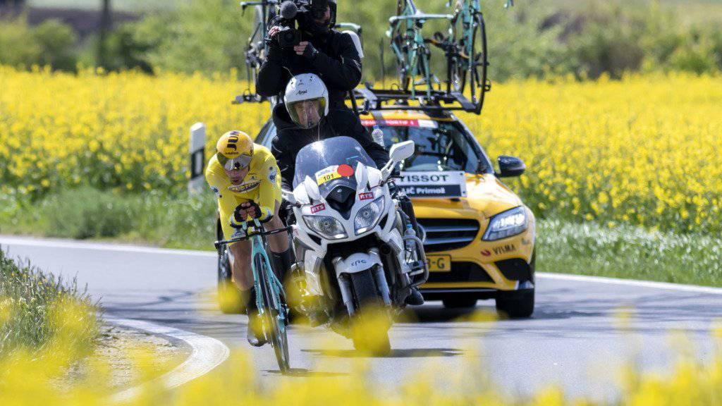 Könnte nach seinen Siegen 2018 und 2019 im nächsten Jahr an der Tour de Romandie den Hattrick anstreben: Der Slowene Primoz Roglic