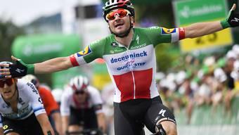 Freut sich über seinen zweiten Tagessieg in der diesjährigen Tour de Suisse: Elia Viviani
