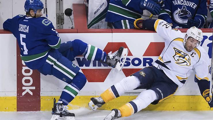 Luca Sbisa bereitete beim Sieg der Vancouver Canucks gegen die Nashville Predators den einzigen Treffer des Abends vor