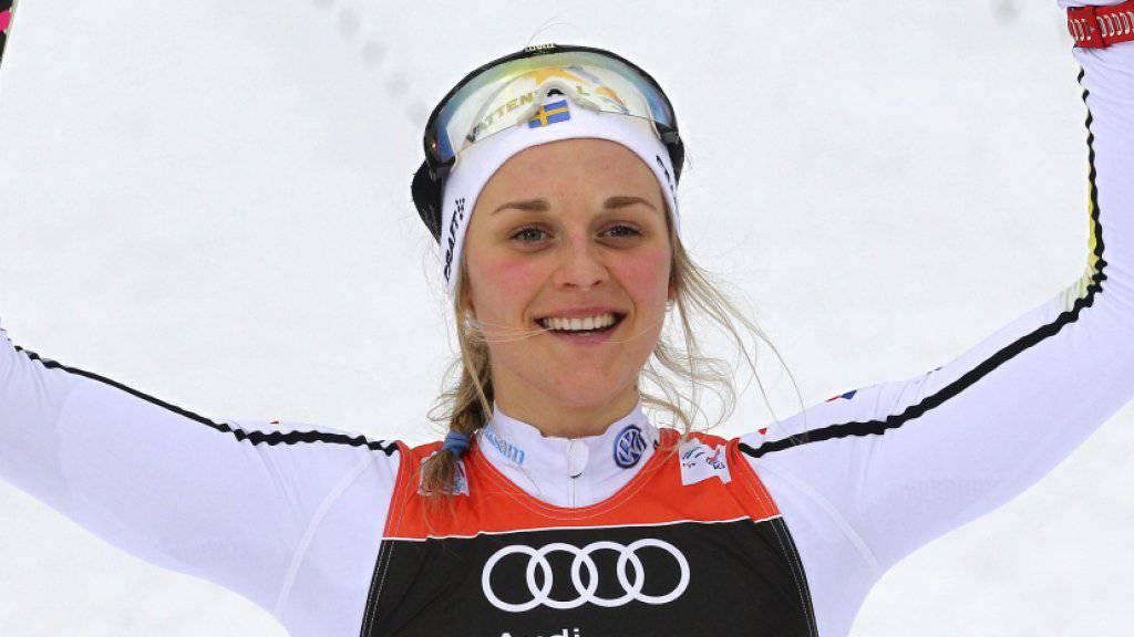 Stina Nilsson übernahm vor der letzten Etappe der Tour de Ski wieder das Leadertrikot