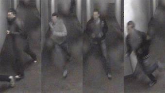 Eine Überwachungskamera hat diese Schlägertruppe nach ihrer Tat im Februar 2011 gefilmt. Zeugen erkannten sie.