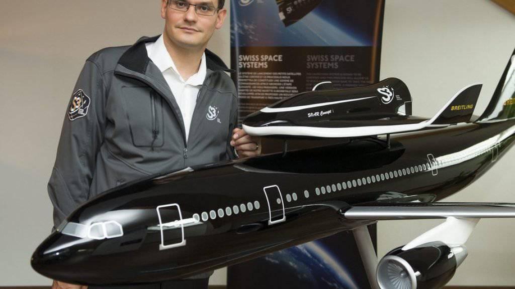 Pascal Jaussi, Gründer Swiss Space Systems, könnte bald vor einem Scherbenhaufen. Am Donnerstag wurde der Konkurs gegen das Raumfahrtunternehmen eingeleitet. (Archivbild)