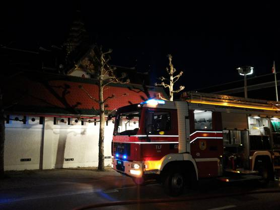 Brand in Buddhisten-Tempel