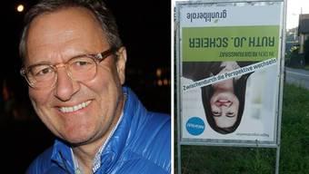 """Werber Frank Baumann, Plakat von glp-Politikerin Scheier: """"Grobfahrlässiger Gag"""""""