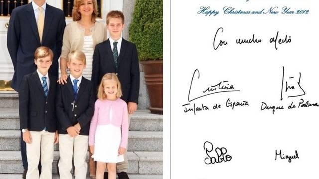 Die Weihnachtskarte der Familie Urdangarin (Archiv)